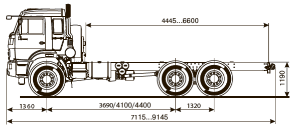 ШАССИ KAMAZ-43118-50 full