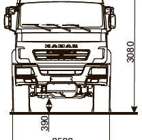 ШАССИ KAMAZ-5350-66 (D5) full