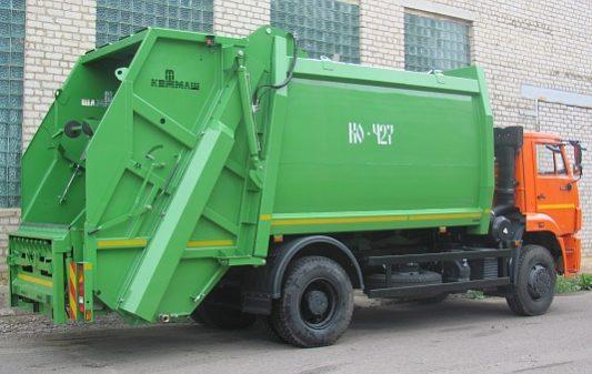 МУСОРОВОЗ С ЗАДНЕЙ ЗАГРУЗКОЙ КО-427-72 full
